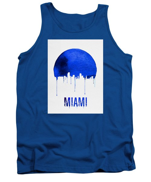Miami Skyline Blue Tank Top by Naxart Studio