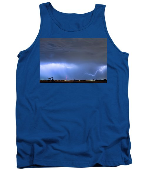Tank Top featuring the photograph Michelangelo Lightning Strikes Oil by James BO Insogna