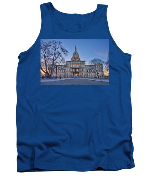 Tank Top featuring the photograph Michigan State Capitol by Nicholas Grunas