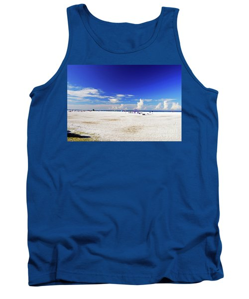 Tank Top featuring the photograph Miles And Miles Of White Sand by Gary Wonning