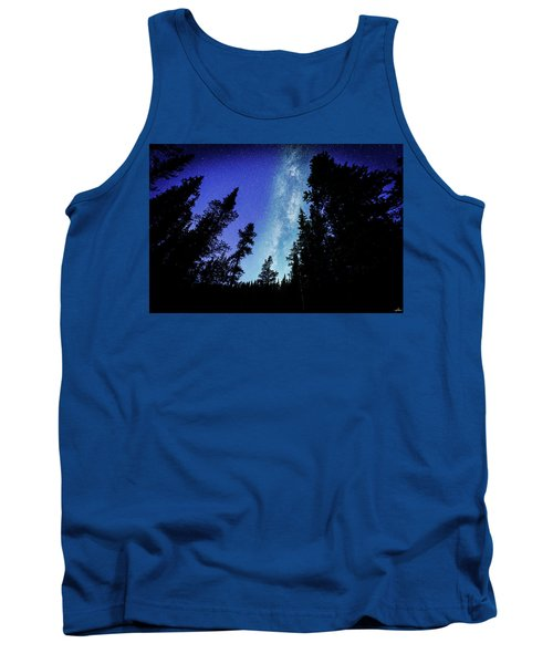 Milky Way Among The Trees Tank Top