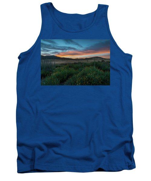 Mission Trails Poppy Sunset Tank Top