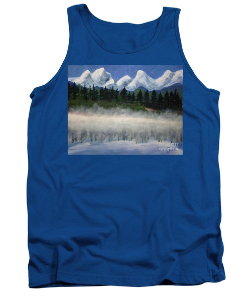 Misty Morning On The Mountain Tank Top