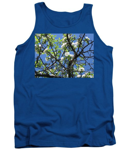 Mn Apple Blossoms Tank Top by Barbara Yearty