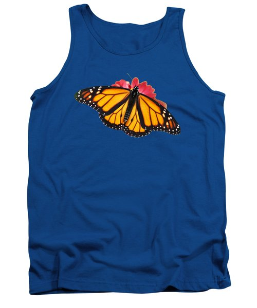 Tank Top featuring the photograph Monarch Butterfly On Red Mums by Christina Rollo