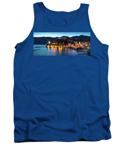 Tank Top featuring the photograph Monterosso Al Mare At Twilight by Brian Jannsen