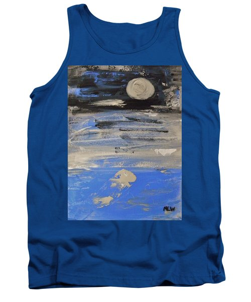 Moon In October Sky Tank Top by Mary Carol Williams