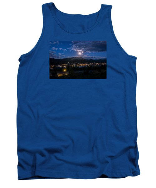 Moon Rising Over Breckenridge Tank Top by Michael J Bauer