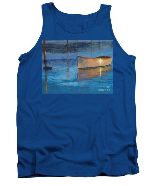 Tank Top featuring the painting Moored In Light-sold by Nancy Parsons