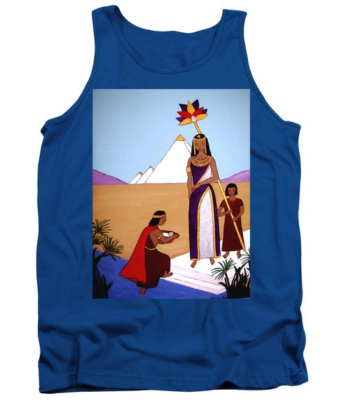 Tank Top featuring the painting Moses In The Bullrushes by Stephanie Moore