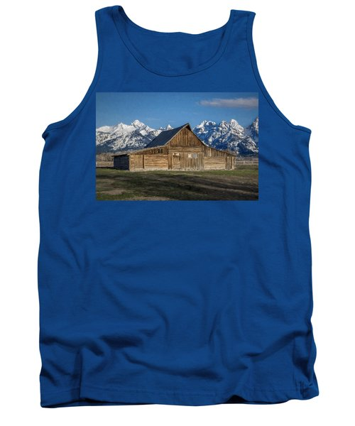 Tank Top featuring the photograph Moulton Barn by Lou Novick