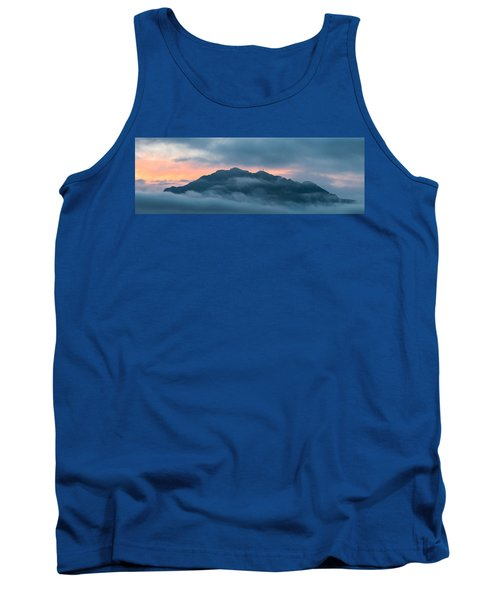Mount Franklin Stormy Winter Sunset Pano Tank Top
