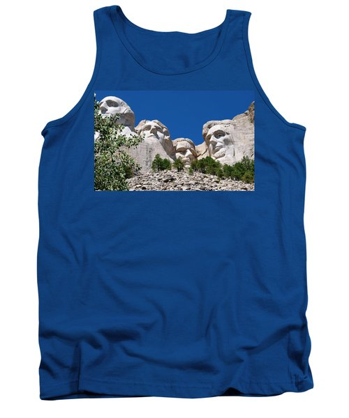 Mount Rushmore Close Up View Tank Top