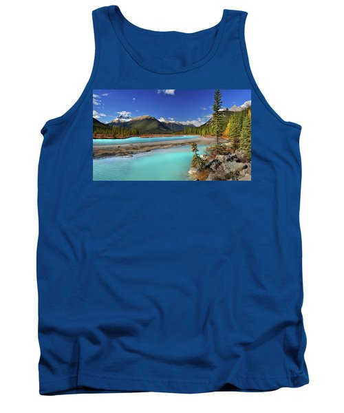 Tank Top featuring the photograph Mount Saskatchewan by John Poon