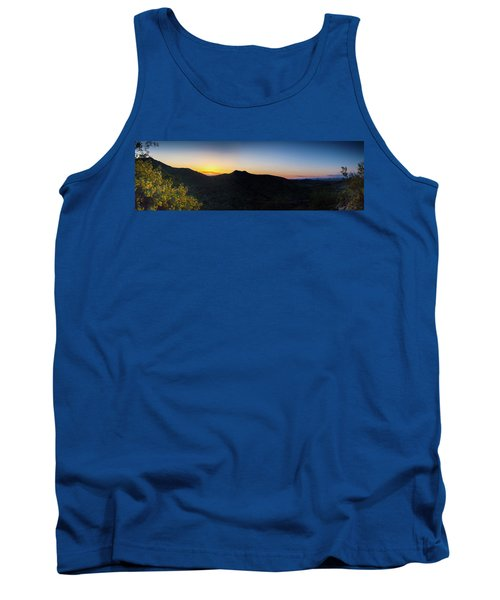 Tank Top featuring the photograph Mountains At Sunset by Ed Cilley