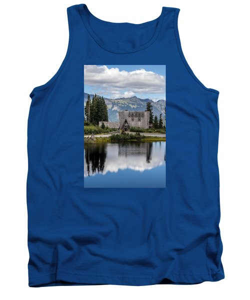 Mt Baker Lodge Reflecting In Picture Lake 3 Tank Top