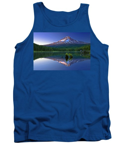 Mt. Hood Reflection At Sunset Tank Top