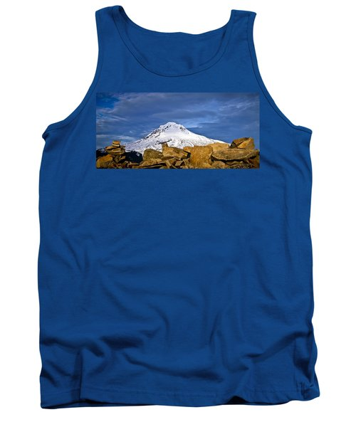 Mt Hood With Talus Tank Top