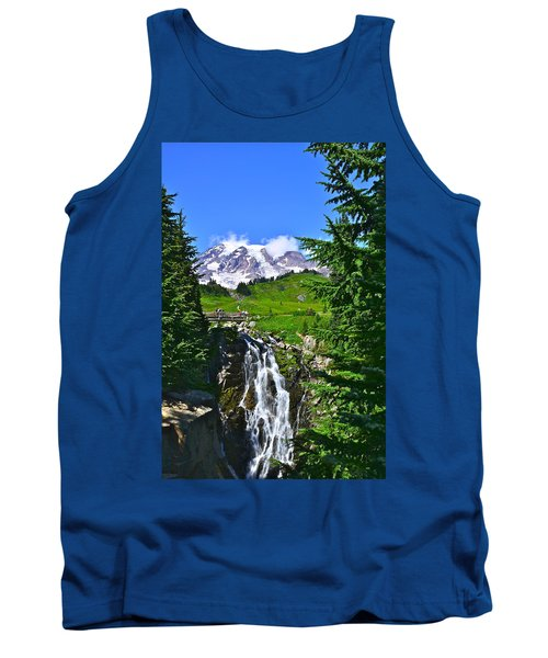Mt. Rainier From Myrtle Falls Tank Top