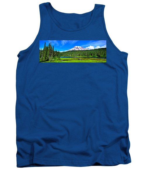 Mt. Rainier From Reflection Lakes Tank Top