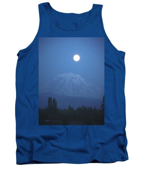 Mt Rainier Full Moon Tank Top