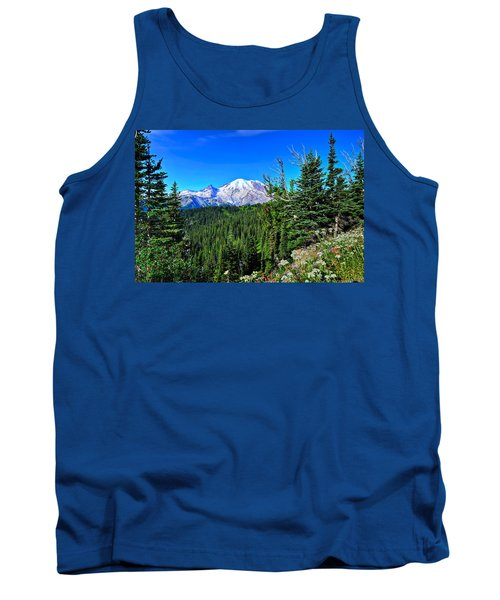 Mt. Rainier Wildflowers Tank Top