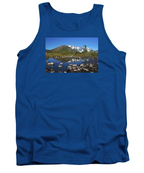 Mt. Shuksan Puddle Reflection Tank Top by Scott Cunningham