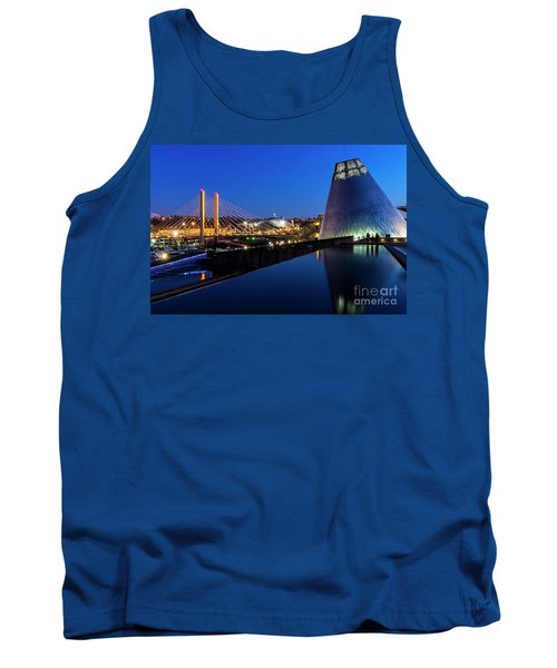 Museum Of Glass At Blue Hour Tank Top