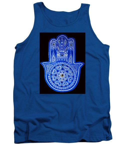 My Blue Hamsa Tank Top