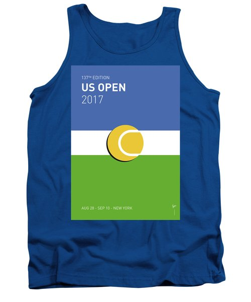 Tank Top featuring the digital art My Grand Slam 04 Us Open 2017 Minimal Poster by Chungkong Art