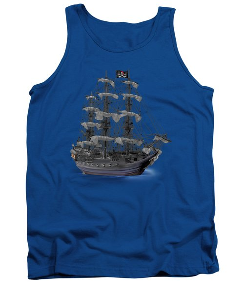 Mystical Moonlit Pirate Ship Tank Top
