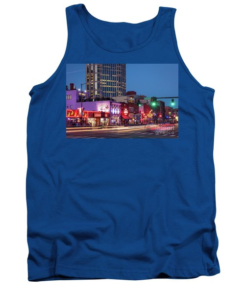Tank Top featuring the photograph Nashville - Broadway Street by Brian Jannsen