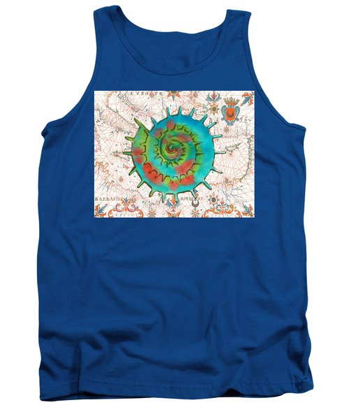 Tank Top featuring the painting Nautical Treasures-m by Jean Plout