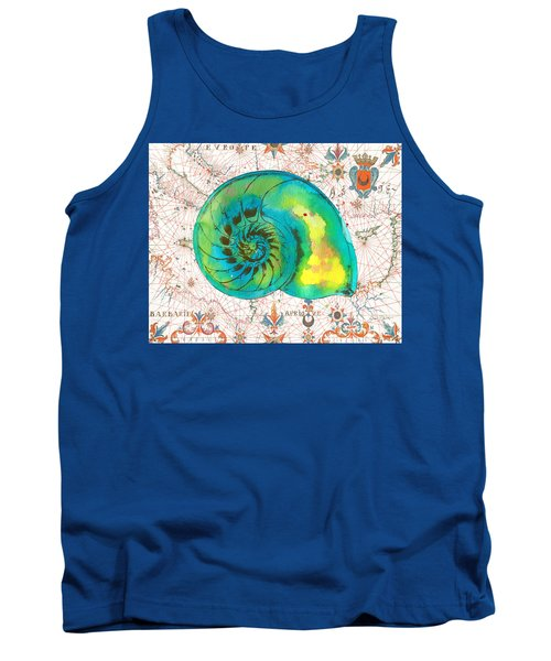 Tank Top featuring the painting Nautical Treasures-n by Jean Plout