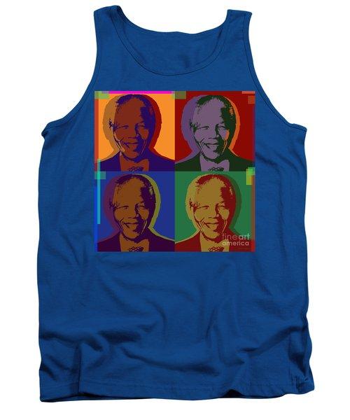 Nelson Mandela Pop Art Tank Top
