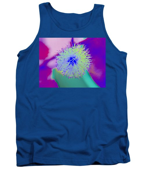 Neon Green Puff Explosion Tank Top by Samantha Thome