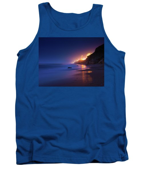 Netanya Beach At Night Tank Top