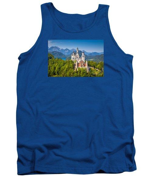 Neuschwanstein Fairytale Castle Tank Top by JR Photography