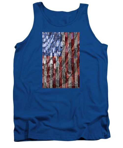 Tank Top featuring the photograph Never Forget American Sacrifice by DJ Florek