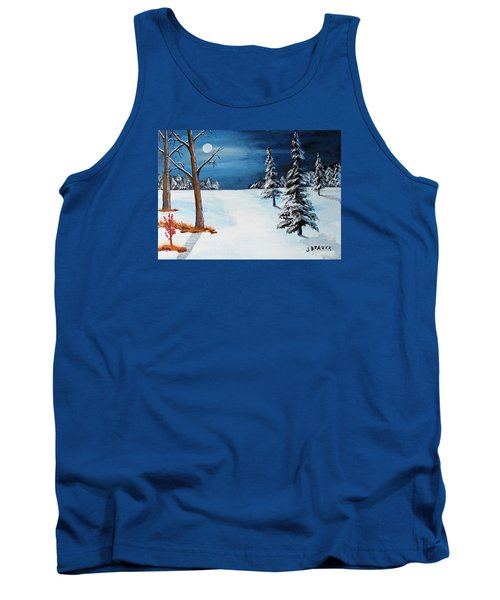 New Moon New Snow Tank Top by Jack G Brauer