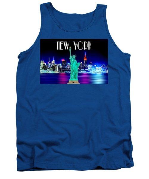 New York Shines Tank Top by Az Jackson