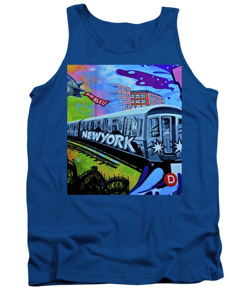 New York Train Tank Top by Joan Reese