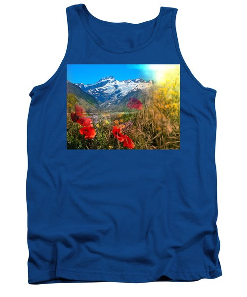 New Zealand Southern Alps Montage Tank Top