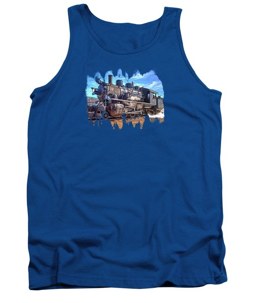 No. 25 Steam Locomotive Tank Top by Thom Zehrfeld