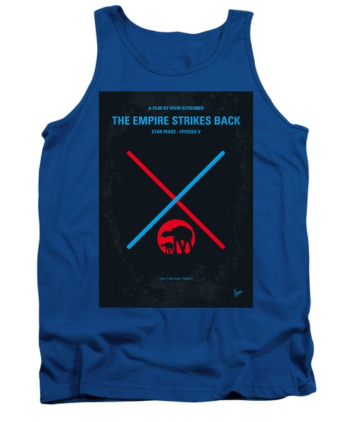 No155 My Star Wars Episode V The Empire Strikes Back Minimal Movie Poster Tank Top