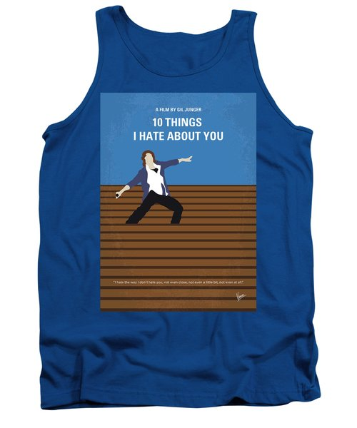 No850 My 10 Things I Hate About You Minimal Movie Poster Tank Top