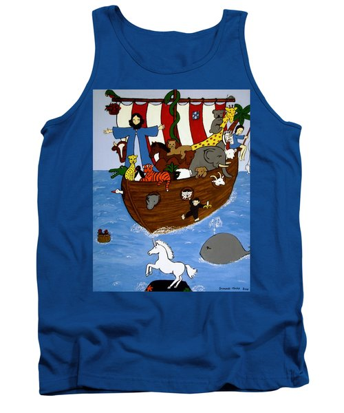 Tank Top featuring the painting Noah's Ark by Stephanie Moore