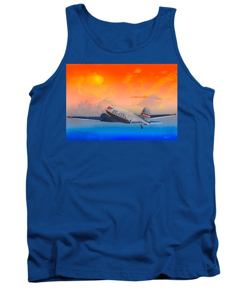 North Central Dc-3 At Sunrise Tank Top by J Griff Griffin