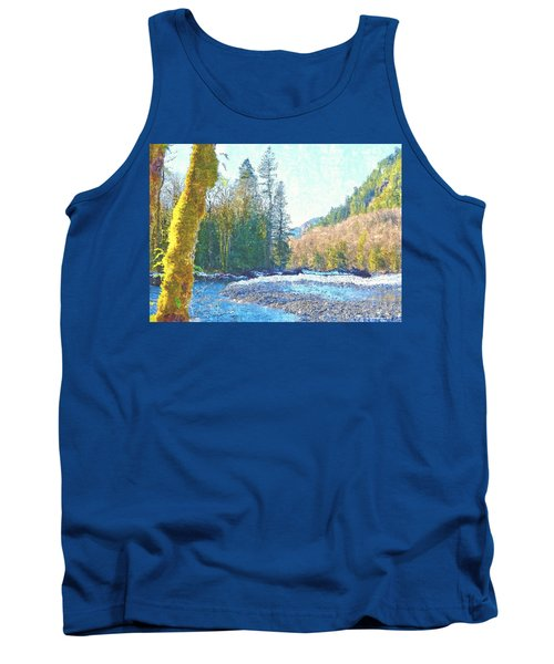 North Fork Of The Skykomish River Tank Top by Tobeimean Peter