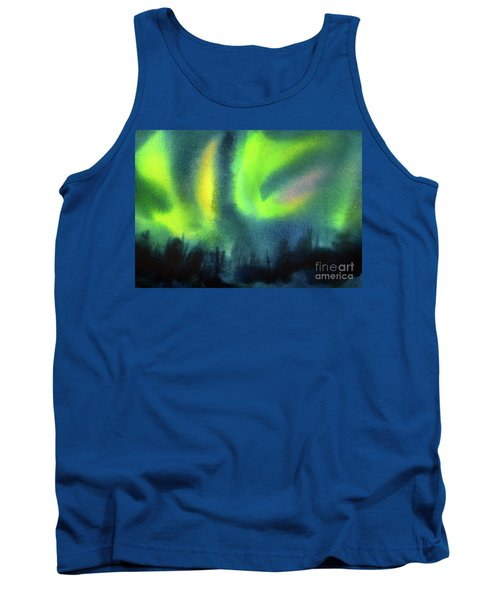 Tank Top featuring the painting Northern Lights 3 by Kathy Braud